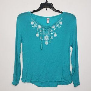 💥5/$25 JUSTICE teal top size 12